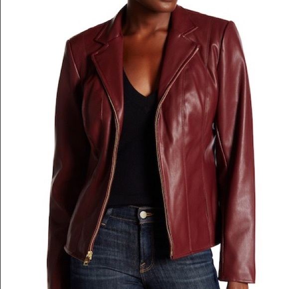 Cole Haan Jackets Coats Womens Signature Faux Leather Jacket